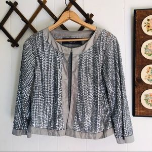 Zara Collection • Silver Sequins Jacket